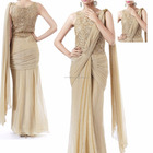 Pakistani dresses - Indian wholesale ethnic wear clothing online shopping - cheap price raw silk indian long beige salwar kameez