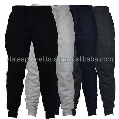 New Men's Fleece Joggers Tracksuit Jogging Bottoms Track Sweat Pants Black Gray