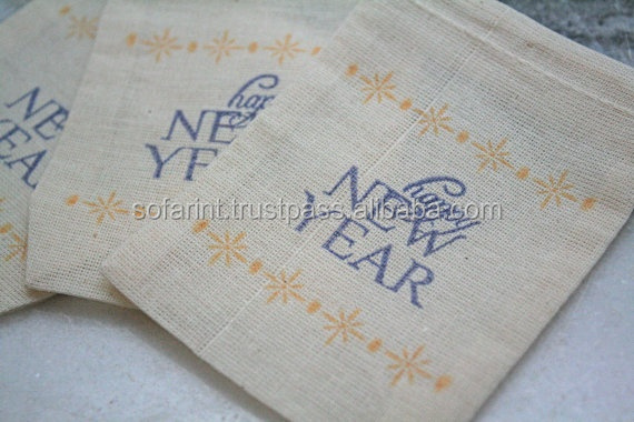 wholesale muslin drawstring bags/ natural cotton muslin bag