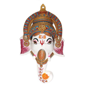Ganesh Wall Art 18 inches large ganesha mask ganesh face decor art sculpture metal