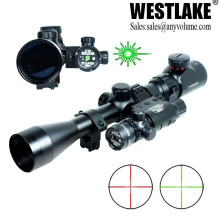 C3-9x40 Hunting Rifle Scope Mil-Dot illuminated Red/Green Snipe Scope with Green Laser Sight(WL-SOS01-A)