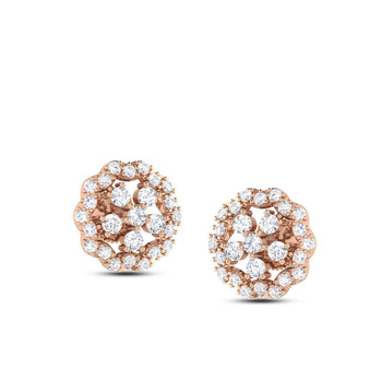 Real Diamond Daily Wear Rose Gold Earring