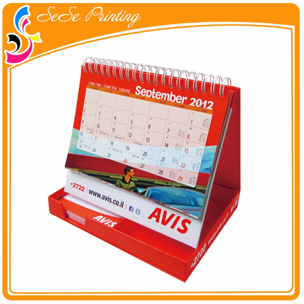 Guangzhou Factory Portable Miniature Table/desk Calender Printing ...