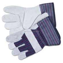 Safety Split Leather Palm Work Gloves, Gray/Best quality bu taidoc