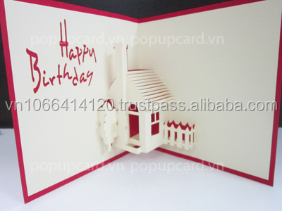 House Happy Birthday 3d Greeting Card Buy Greeting Cardhandmade