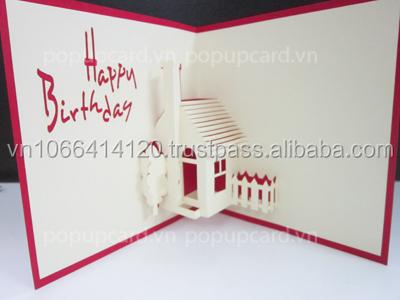 house happy birthday 3d greeting card buy greeting cardhandmade 3d birthday cardhouse 3d pop up greeting cards product on alibabacom - 3d Greeting Cards