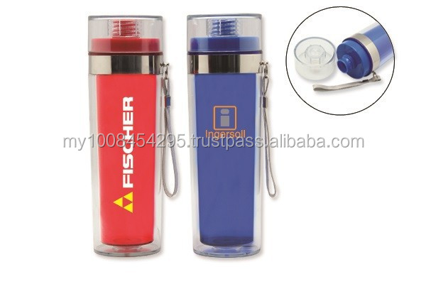 43100 Double Wall Plastic Drink Bottle -400ml ( promotional gift, corporate gift, premium gift, souvenir )
