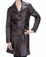 Women Outwear Motorcycle Tops Long Sleeve Leather Short Female Jacket Coat