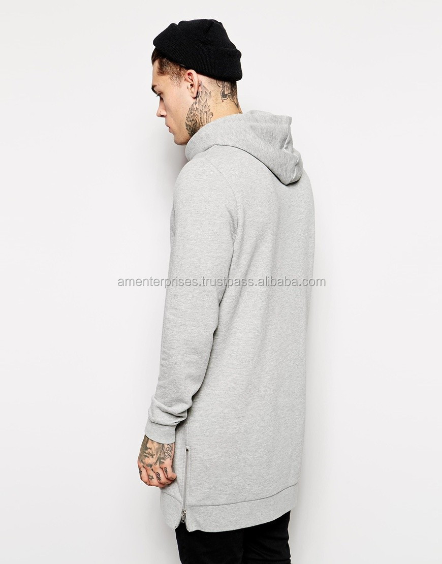 Custom Quilted Elongated Hoodie wholesale Men s Extra Long Hoodie ... 61a54c90f1a