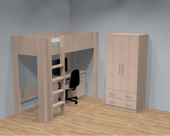 Hoge Bed,Bureau,Garderobe,Childern Slaapkamer,Stapelbed - Buy ...