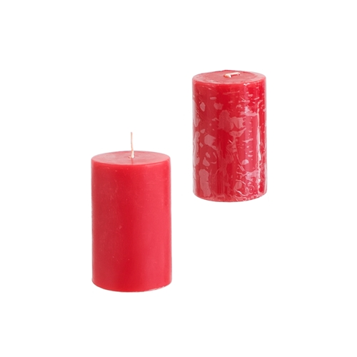 "2"" x 3"" Round Unscented Pillar Candle - Red"
