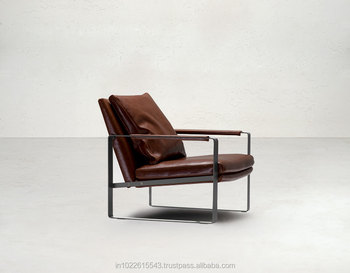 Metal Leather Recliner Chair Lounge