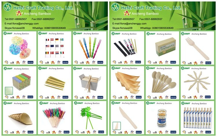 Cocktail loop/knot/heart picks eco party sticks bamboo skewers