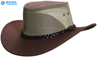 Men Winter Wool Felt Wide Brim Hat With Leather Decoration