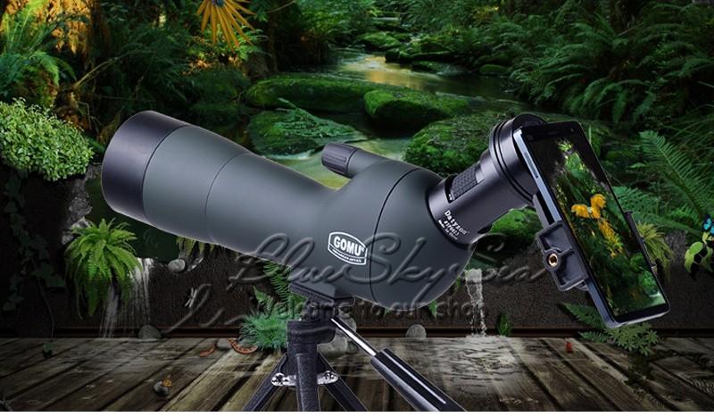 Gomu erweiterte optik abgewinkelt 20 60x60 zoom spektiv monokulare