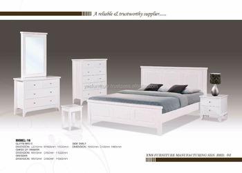 Houten Slaapkamer Kast : Wit massief houten slaapkamer set garderobe kasten kast night