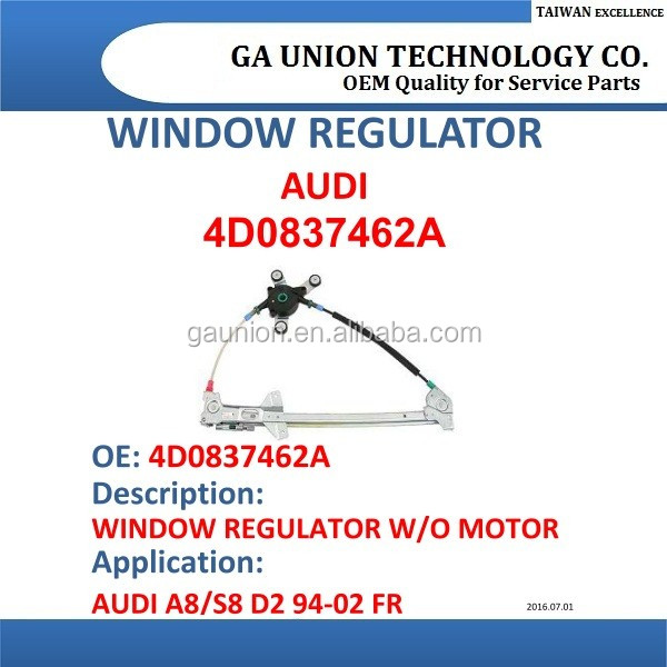 car power window regulator window lifter 4d0837462a for audi a8/s8 d2 94-02