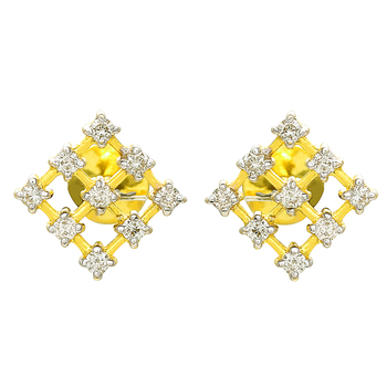 208fe4031 Square Shape Good Looking Small 14k Gold Diamond Earring Tops - Buy ...