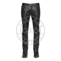 Latest Design 2017 Season Men Fashion Soft Sheep Leather Pants