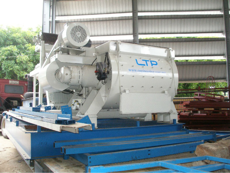 Twin Shaft Mixer Concrete Batching Plant 120m3 H Made In