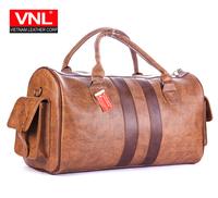 Men's Stylish Comfortable Brown Premium Leather Travel Bags TXDL1A2L3B