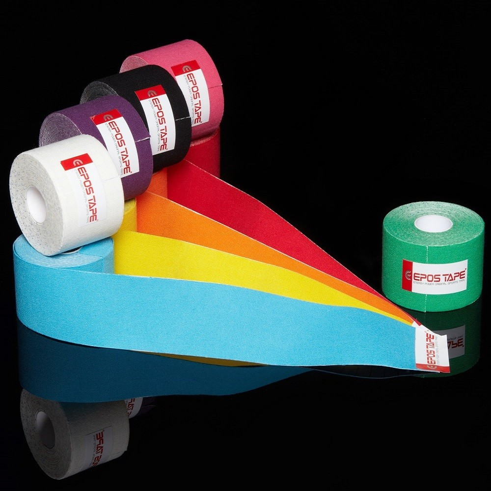 Original EPOS Kinesiology Tape, Latex Free, 100% Cotton, Made in Korea