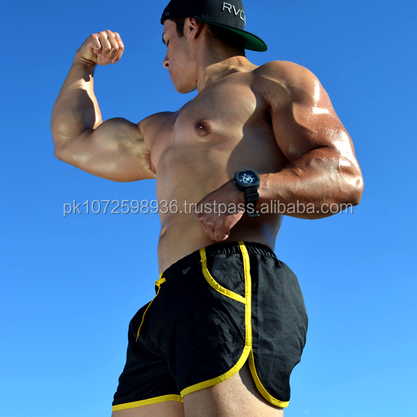 Wholesale OEM High Quality Men Running Bodybuilding Shorts/ Sports Gym Elastic Waistband Shorts