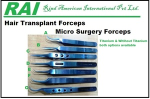 Surgical Micro Forceps For Hair Transplant Micro surgery Forceps