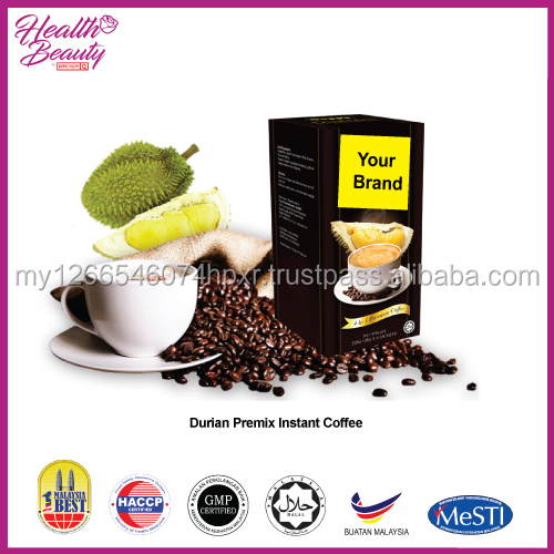 High Quality Durian White Coffee in Malaysia OEM Durian White Coffee