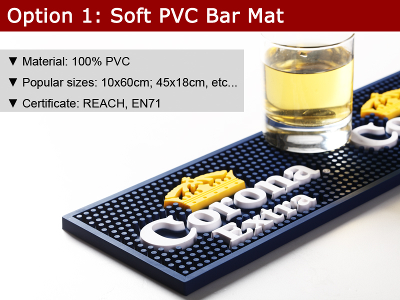 Rubber Table Top Bar Mats Branded Bar Runner Beer Mat