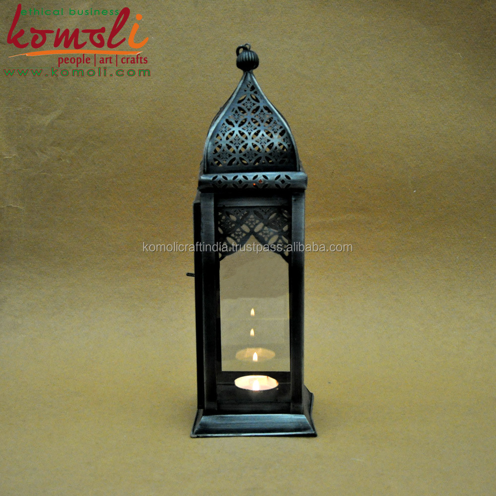 Large Moroccan candle lantern as home decorative