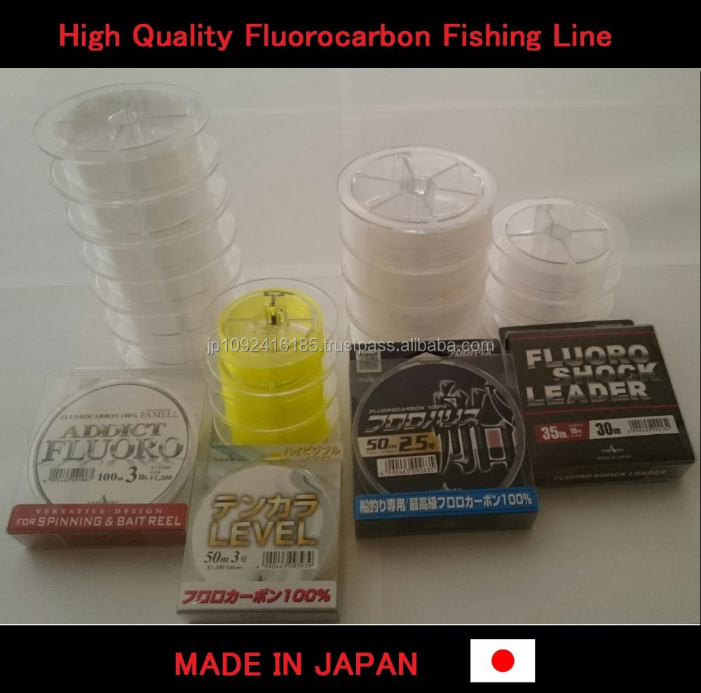 High quality and Easy to use japanese fluorocarbon fishing line at reasonable prices quick delivery