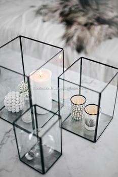 Multipurpose Box Candle Storage Jewelry Glass