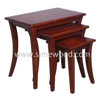 Solid Wood Nesting Tables Set, Coffee Tables, Side Tables