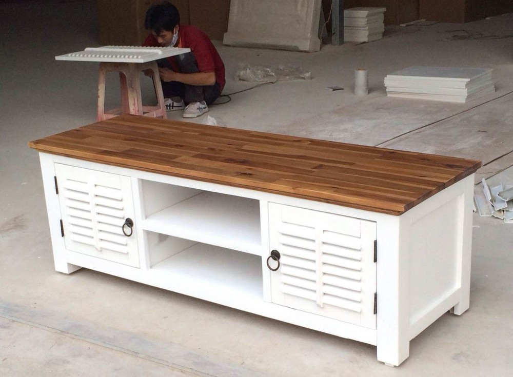 White Brown Top Tv Stand Buy Tv Stand 2 Color Finishing Product