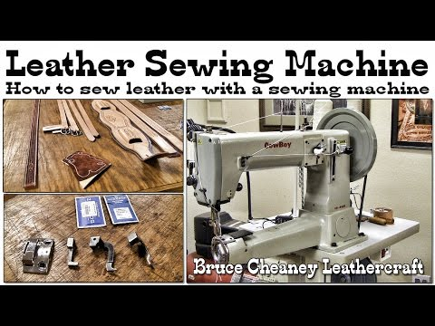 How to sew leather with a sewing machine - Leathercraft Tutorial - Leather Sewing Machine