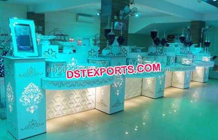 New Design Wedding Food Stalls/ Wedding Fiber Food Counters ...