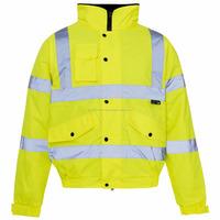 2016 Winter jacket safety reflective/Reflective cycling jacket/Yellow safety reflective jacket