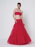 Long Red Tulle Petticoat for Women Dresses