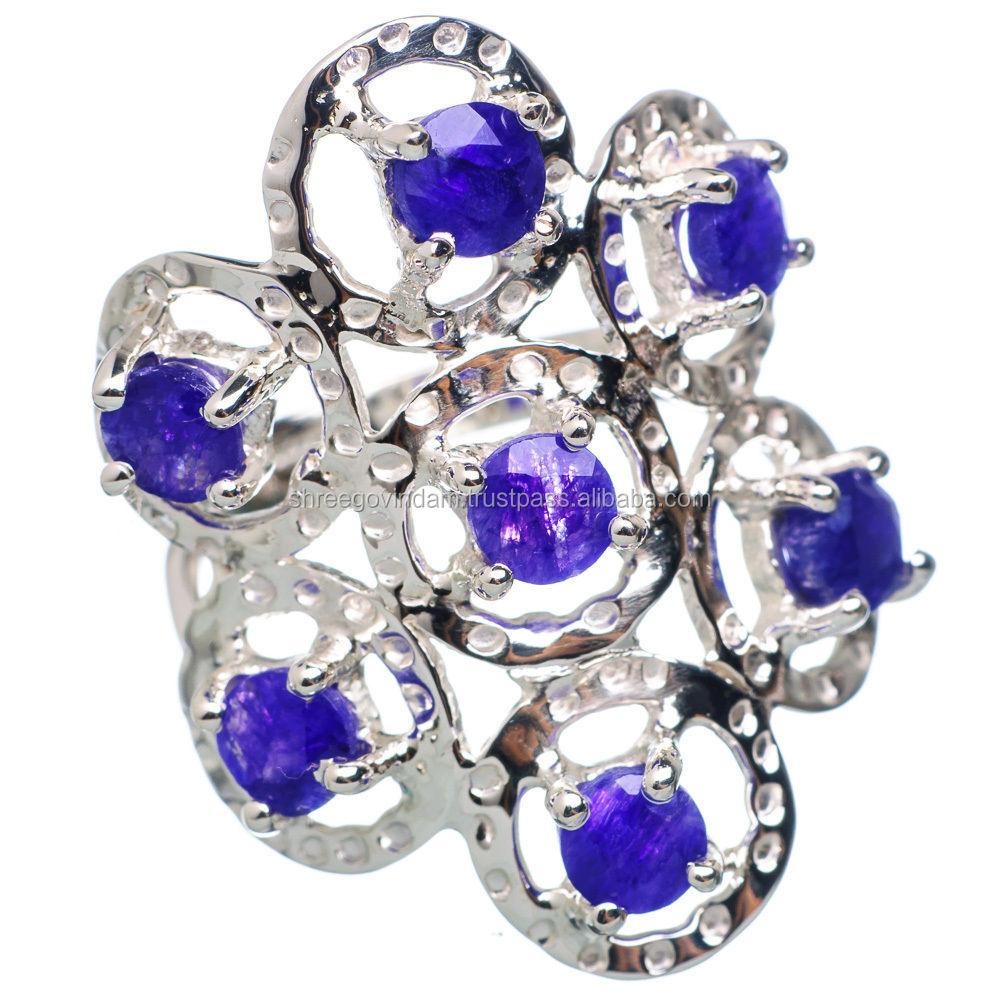 Tanzanite 925 Tanzanite: Tanzanite 925 Sterling Zilver Handtekening Ring Size 7 Ana
