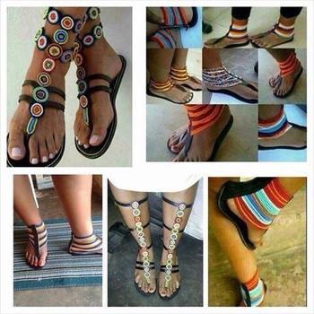 Maasai Sandals - Buy Kenyan Beaded Sandals Product on Alibaba.com