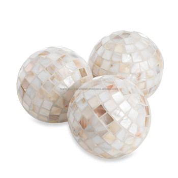 Mother Of Pearl Decorative Balls Home And Office Accessories