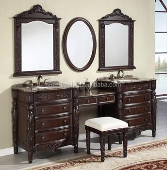 Solid Wooden Vanity Cabinet Carved