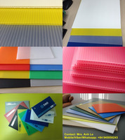 Clear PP corrugated plastic