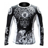 2017 full sleeve mma custom printed rash guards