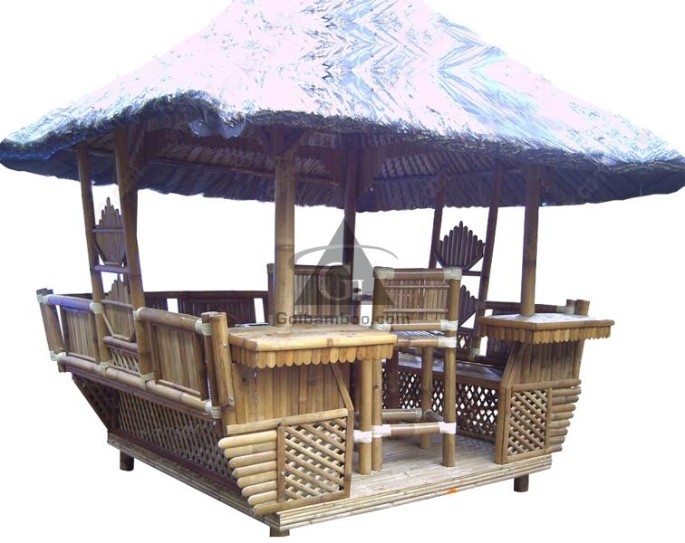 Muebles de jardín de Bambú Tiki Bar Choza de Bambú bar para resoft