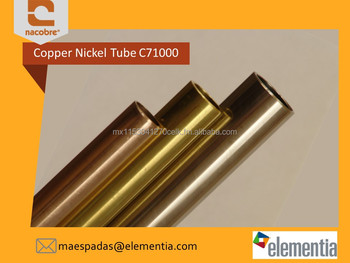 High Quality Copper Nickel CuNi Condenser Tube / Pipe C710 80/20%
