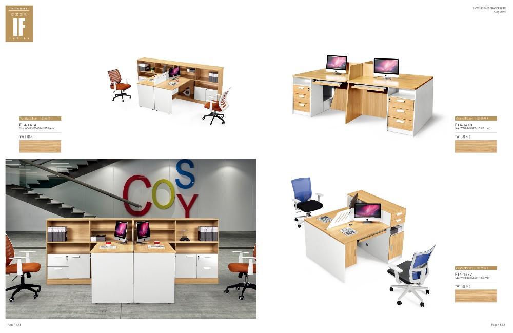 Melamine Surface Office Furniture Made In China Lshape Design Melamine Desk