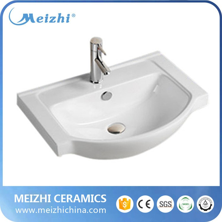 Bathroom small size patterned ceramic sink