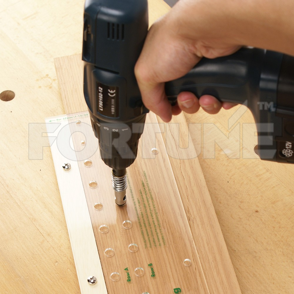 Shelf Pin Drilling Jig Template With 1/4\